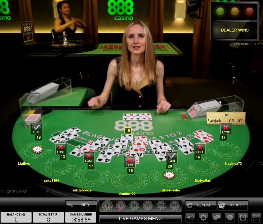 888 Live Casino Dealer Sverige