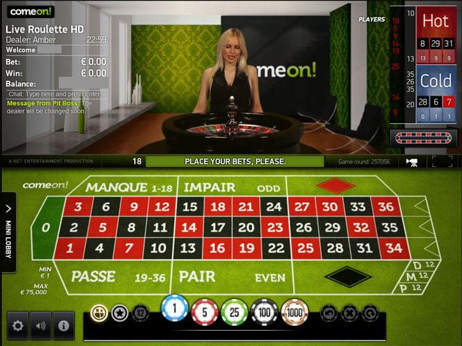 Comeon live casino Sverige