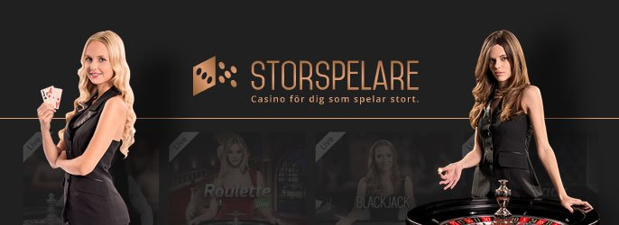Storspelare live casino dealer
