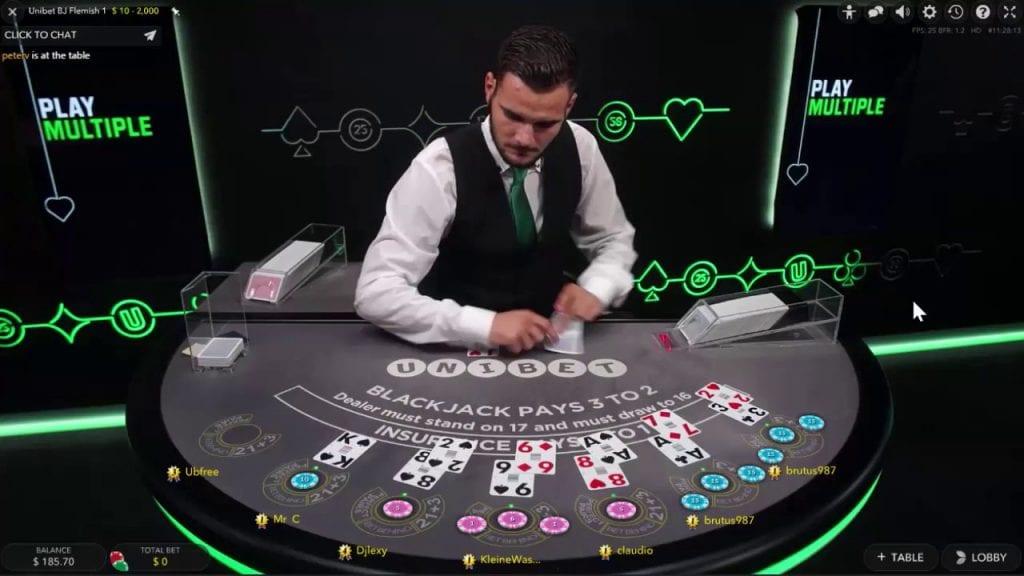 Unibet Live Casino Blackjack